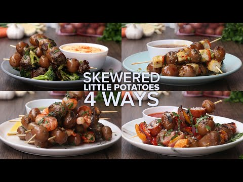 Skewered Little Potatoes 4 Ways // Presented By The Little Potato Company