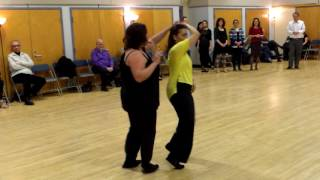 Central Jersey Dance Society No Name Dance WCS lesson with Hazel Ulrich 3 18 17