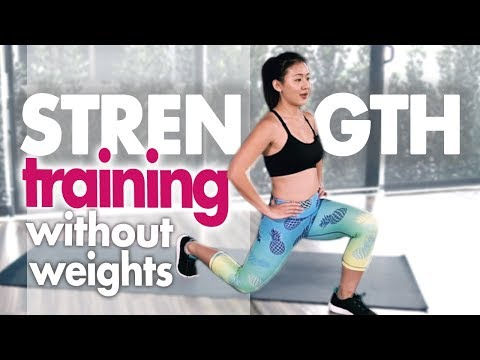 Total Body Strength Training Without Weights for Women | Home Workout (No Jumping) | Joanna Soh