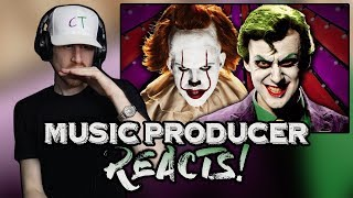 Music Producer Reacts to Joker vs Pennywise | Epic Rap Battles Of History