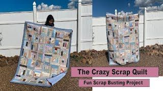 The Crazy Scrap Quilt - Crumb Quilt Project - Quilt Along
