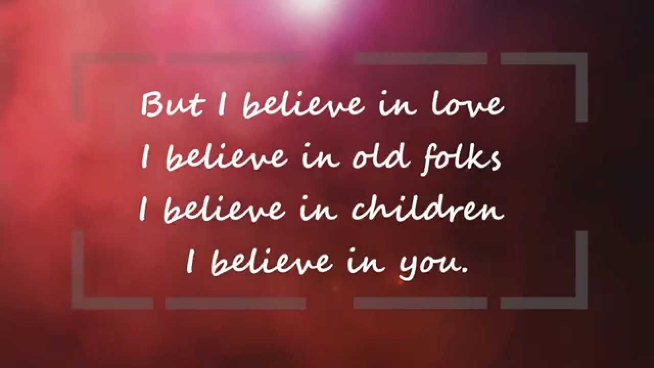 "Don Williams Lyrics in English ""I Believe In You"""