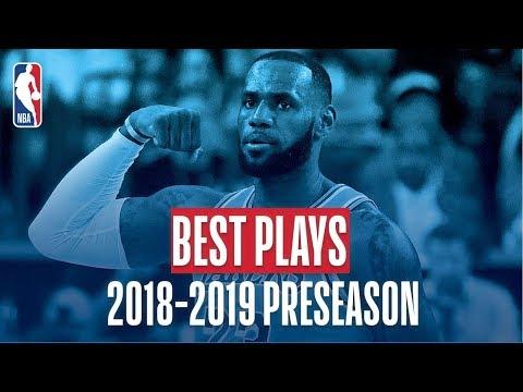 The Best Plays of the 2018-2019 NBA Preseason