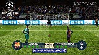 FC BARCELONA vs TOTTENHAM   UEFA Champions League - UCL   Penalty Shootout   PES 2019