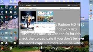 How to make Simcity 5 Run with any graphics card (2013) Fixing error [2001]