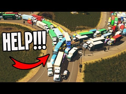 City has Roundabouts plus Horrendous Traffic...WHAT NOW??? Cities Skylines