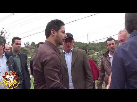 Prefeito Ayres Scorsatto com as autoridades e representantes da ANTT no retorno de Juquitiba