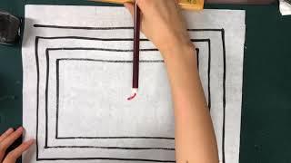 [캘리그라피 강좌] 초급 1강 기본재료와 직선긋기 Learn Calligraphy