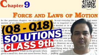 physics class 9 chapter 2 force and laws of motion