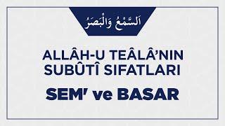 Allâh-u Teâlâ'nın Sem' ve Basar Sıfatıyla İlgili Ehli Sünnetin İ'tikâdı Nasıl Olmalı?