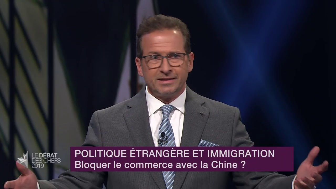 Yves-François Blanchet répond à la question sur les relations avec la Chine