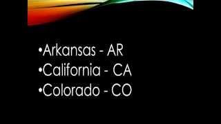 States and Abbreviations Rap