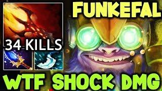 Funkefal Tinker - WTF Shock Damage 34Kills Instant 2x Ultra Kill Dota 2