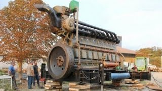 Old Diesel Engines Starting Up