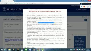 Now  GSTR 3B is more User Friendly - Latest Changes 21 Feb 2018