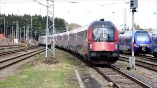 preview picture of video 'Railjet bei der Bahnhofsdurchfahrt in Holzkirchen'