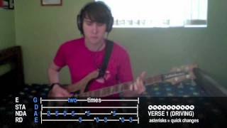 "Aaron Gillespie ""We Were Made For You"" bass tab/cover - Anthem Song - 2011"