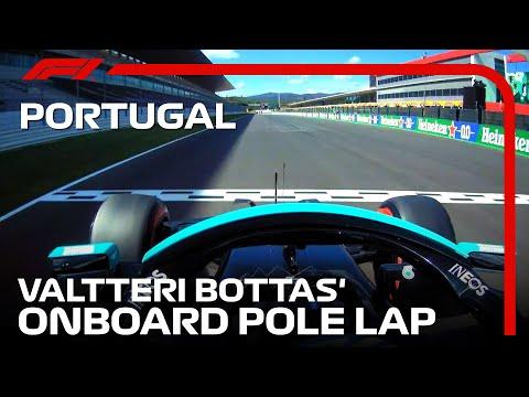 ポールポジションのバルデリ・ボッタスのオンボード映像
