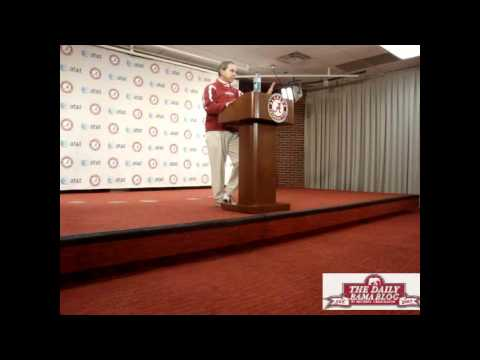 Nick Saban warns reporters before taking questions