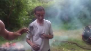 Пьяный бурагоз Драка на природе1