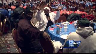 Thousands turn out for annual Salvation Army Christmas feast
