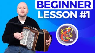 Irish Button Accordion Lesson 1 - [The Basics] Start Here
