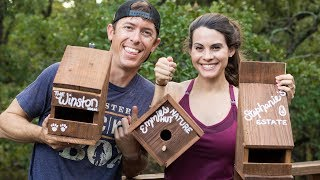 Building Bird Houses That Match Our House (DIY Family Wood Project)