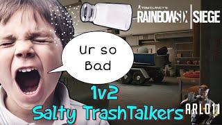 1v2 Against Salty Trashtalkers! - Rainbow Six Siege