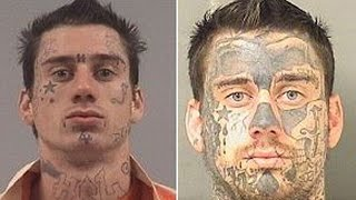 See Tattoo Progression On Mans Face After Each Arrest Over The Last 8 Years