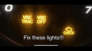Check Engine Light VSC TRAC Fix For Lexus GX470 GX 470 Easy Fix Repair Common to Toyota also
