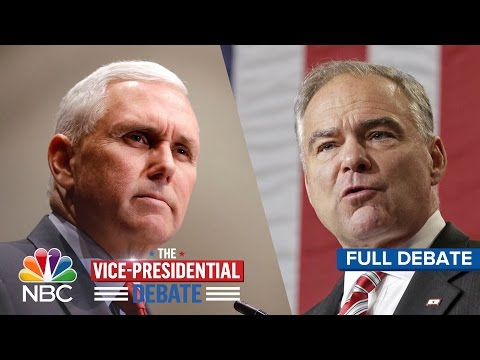 The Vice-Presidential Debate: Tim Kaine And Mike Pence (Full Debate) | NBC News