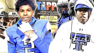 🔥🔥Son of NFL Legend Deion Sanders 5TDs lead Trinity Christian to a TX H.S Football Championship