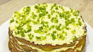 Хочу, чтобы вы попробовали! Мой САМЫЙ НЕЖНЫЙ Закусочный Торт к празднику.