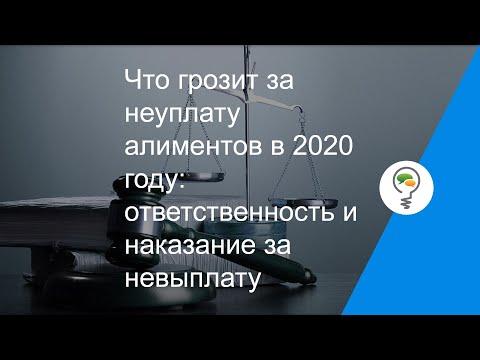 Что грозит за неуплату алиментов в 2020 году: ответственность и наказание за невыплату