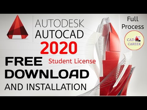 AUTOCAD 2020 FREE DOWNLOAD AND INSTALLATION FULL PROCESS   CAD CAREER