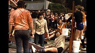 Trappaf, zeskamp op parochieveld, Koninginnedag 1977