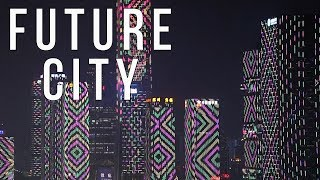 Video : China : ShenZhen 深恨 gigantic LED city light show