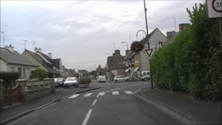 preview picture of video 'Driving Along Rue de la Tour du FA & Rue de Bel Orient, Hillion, Brittany, France 22nd August 2011'