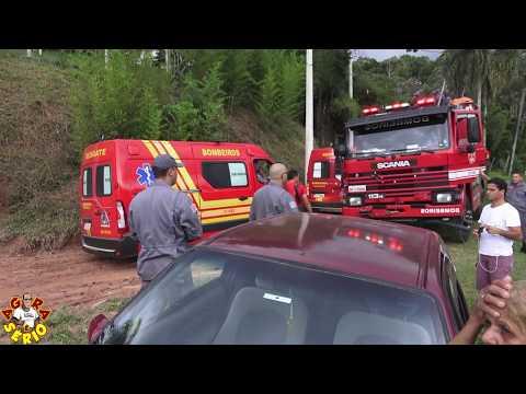 Bombeiros com todo suporte na Tragédia da cachoeirinha onde 3 pessoas morreram carbonizadas.