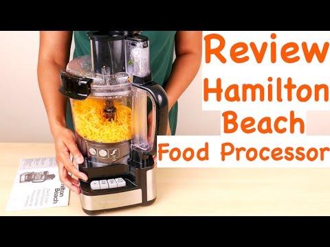 , Hamilton Beach 70740 8-Cup Food Processor, Black