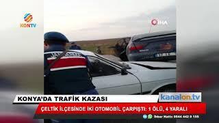 Konya'da feci kaza: 1 ölü, 4 yaralı