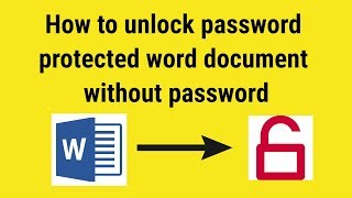 How to unlock word document without password