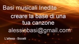 L'attesa Bocelli base audio karaoke