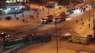 Как убирают снег в Киеве/Украина, street snow removal/ Ukraine/Kiev