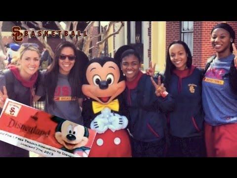 USC Women's Basketball goes to Disneyland!