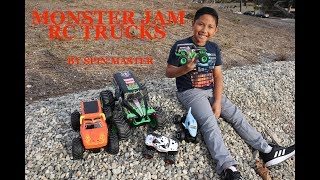 MONSTER TRUCKS REMOTE CONTROL CARS - SPIN MASTER RC TRUCKS BIG BOX SURPRISE UNBOXING