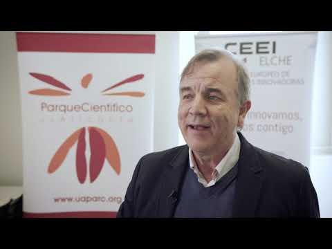 Fernando Guerrero de Nous Intelligence en el HUB de Innovación Colaborativa.[;;;][;;;]