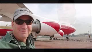 747 Global Supertanker 'Camp' fire Day 6 UPDATE McClellan Load and Return