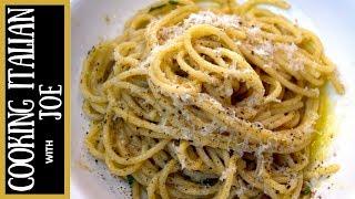 Cacio e Pepe Cheese Pepper Pasta Cooking Italian with Joe