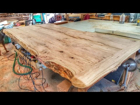 Making a Cherry Wood Table from a Log